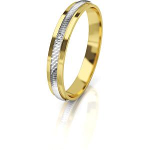 Art Diamond Dámský bicolor snubní prsten ze zlata s diamantem AUG328 58 mm