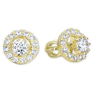 Brilio Zlaté okrúhle náušnice s čírymi kryštálmi 239 001 00860 - 2,25 g