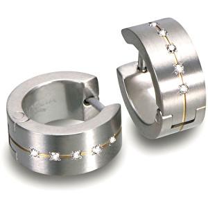 Boccia Titanium Titanové náušnice s diamanty 0503-11