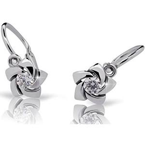 Cutie Jewellery Dětské náušnice s designem růžiček C2201-10-2 bílá