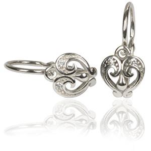 Cutie Jewellery Dětské náušnice C2211-10-2 bílá