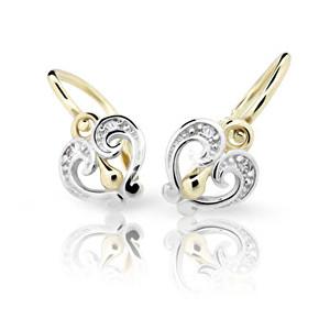 Cutie Jewellery náušnice ve žlutém zlatě se zirkony C2211