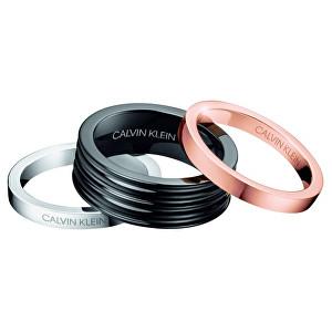Calvin Klein Sada tří prstenů Blast KJ7MBR3001