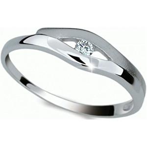 Danfil Krásný prsten s diamantem DF1745b 49 mm