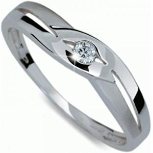 Danfil Krásný prsten s diamantem DF1776b 49 mm