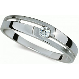 Danfil Zlatý prsten s diamantem DF1793b 49 mm