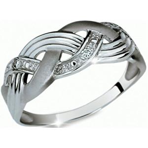 Danfil Krásný prsten s diamanty DF1848b 49 mm