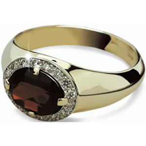 Danfil Luxusní zlatý prsten DF1892z 49 mm