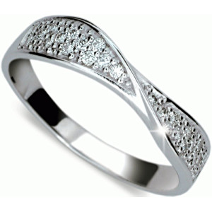 Danfil Luxusní diamantový prsten DF1949b 49 mm