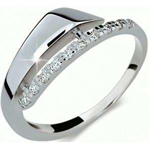 Danfil Elegantní diamantový prsten DF2048b 49 mm