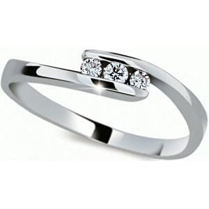 Danfil Jemný prsten s diamantem DF2072b 49 mm