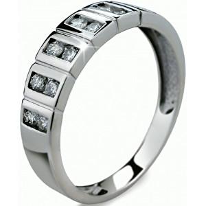 Danfil Luxusní zlatý prsten s diamanty DF2079b 49 mm