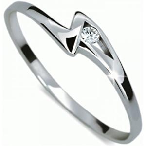 Danfil Zásnubní prsten s diamantem DF1138b 51 mm