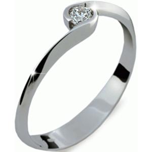 Danfil Krásný zásnubní prsten z bílého zlata DF1914b 49 mm