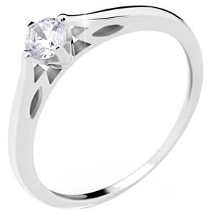 Danfil Luxusní zásnubní prsten z bílého zlata DF2411b 53 mm