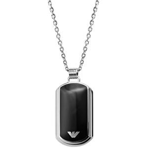 Emporio Armani Pánský ocelový náhrdelník s přívěskem EGS1726040