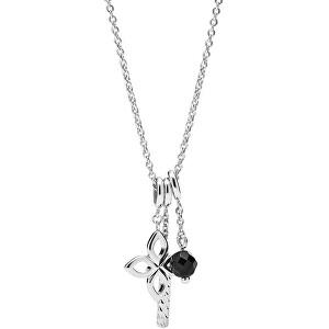 Fossil Krásny strieborný náhrdelník pre ženy JFS00479040 (retiazka, prívesok)