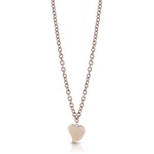 Guess Bronzový náhrdelník s velkým srdcem UBN28061