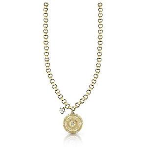 Guess Pozlacený náhrdelník s krystaly UBN28097