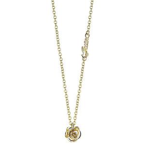 Guess Pozlacený náhrdelník Růžička UBN21521