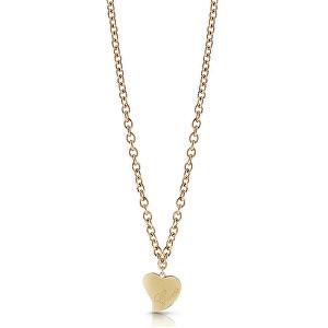Guess Pozlacený náhrdelník s velkým srdcem UBN28060