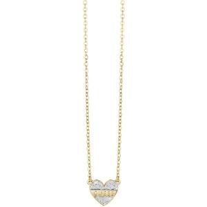 Guess Romantický náhrdelník s třpytivým srdcem My Darling UBN83126