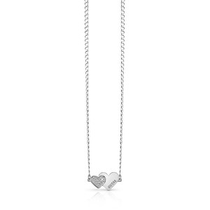 Guess Romantic colier cu inimile conectate UBN84074