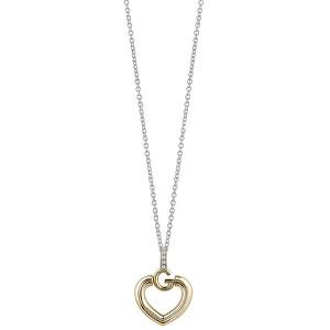 Guess Slušivý náhrdelník Srdce s krystaly UBN83010