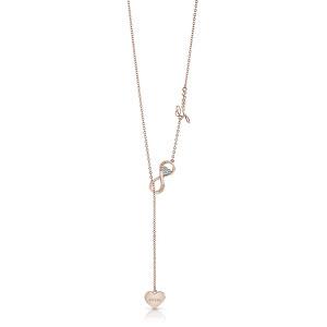 Guess Výrazný bronzový náhrdelník Endless Love UBN85015