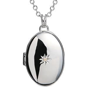 Hot Diamonds Náhrdelník s medailonem a diamantem DP143_DP549 46 cm