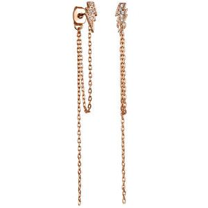 Karl Lagerfeld Moderné visiace náušnice Lightning Bolt Chain 5460969