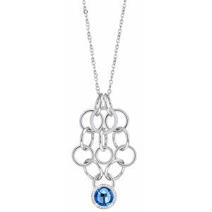 Morellato Ocelový náhrdelník s modrým krystalem Essenza SAGX01