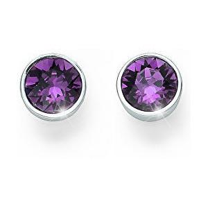 Oliver Weber Náušnice pecky s fialovými krystaly Ocean Uno 22623 204