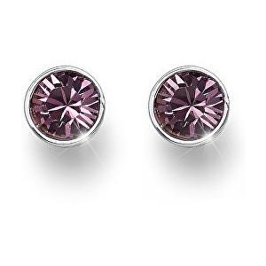 Oliver Weber Náušnice pecky s růžovými krystaly Ocean Uno 22623 920