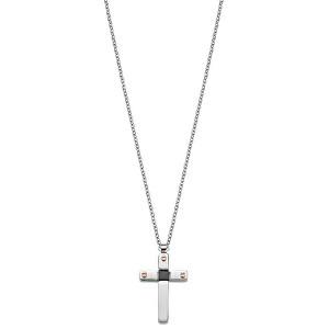 Sector Jewels Ocelový náhrdelník Křížek SZQ12