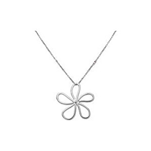 Tommy Hilfiger Ocelový náhrdelník s květinou TH2700934