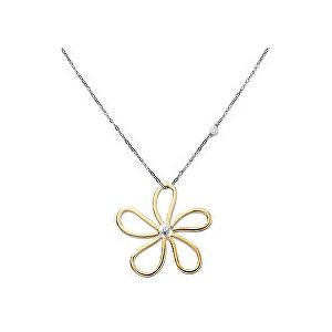 Tommy Hilfiger Ocelový náhrdelník s květinou TH2700935