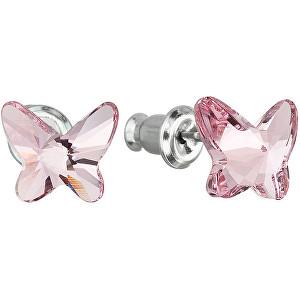 Troli Motýlikové náušnice Butterfly Light Rose 51048,3 lt. rose