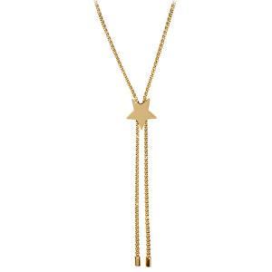 Troli Nastavitelný náhrdelník s hvězdou z pozlacené oceli