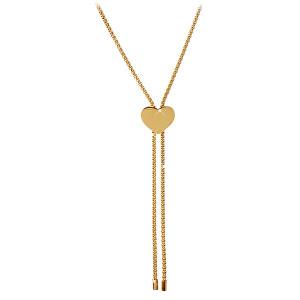 Troli Nastavitelný náhrdelník se srdíčkem z pozlacené oceli
