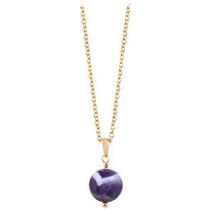Troli Pozlacený náhrdelník s ametystem TO2415