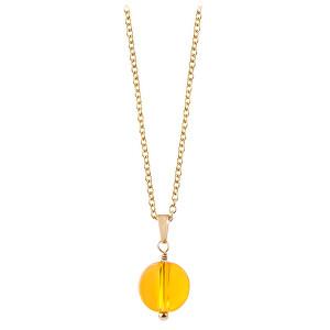 Troli Pozlacený náhrdelník s citrínem TO2420
