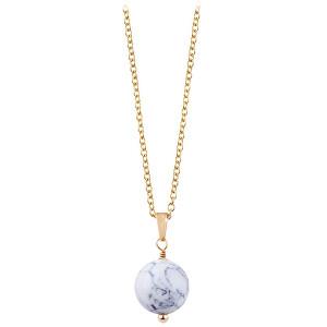 Troli Pozlacený náhrdelník s howlitem TO2424