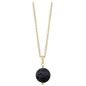 Troli Pozlacený náhrdelník s lávovým kamenem TO2414