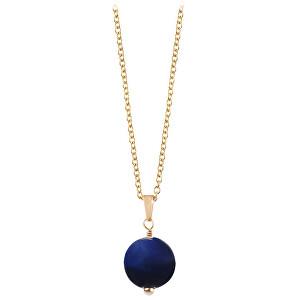 Troli Pozlacený náhrdelník s modrým tygřím okem TO2419