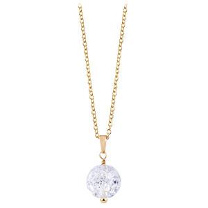 Troli Pozlacený náhrdelník s popraskaným křišťálem TO2413