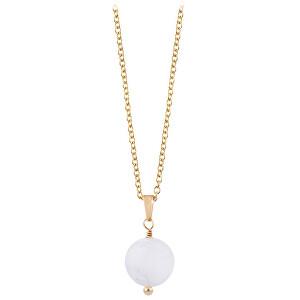 Troli Pozlacený náhrdelník s rutilovaným křemenem TO2427