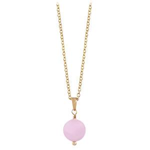 Troli Pozlacený náhrdelník s růženínem TO2417
