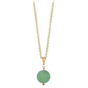 Troli Pozlacený náhrdelník se zeleným avanturínem TO2425