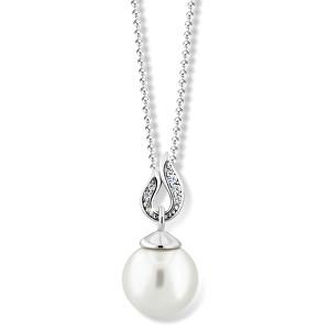 Zodiax Přívěsek z bílého zlata s přírodní perlou a zirkony DLP 3153 W